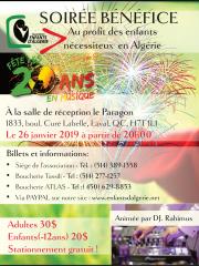 Soirée Bénéfice pour les enfants d'Algérie 2019